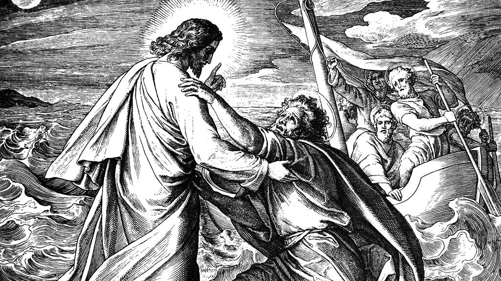 Jesus Walks on Water 1) Sacred-biblical history of the old and New Testament. two Hundred and forty images Ed. 3. St. Petersburg, 2) 1873. 3) Russia 4) Julius Schnorr von Carolsfeld