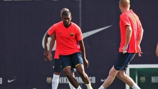 BARCELONA -09 september- SPAIN: Marlon during the training before the match against Alaves, on 09 september 2016.  (Photo by Urbanandsport/NurPhoto via Getty Images)