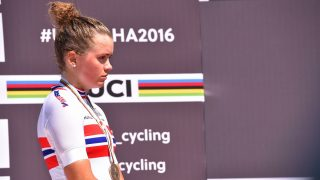 Cycling: 89th Road World Championships 2016 / Women Juniors Road Race  Podium / Susanne ANDERSEN (NOR) Bronze Medal Celebration /  The Pearl Qatar - The Pearl Qatar (74,5km)/ Women Juniors / WC / (Photo by Tim de Waele/Corbis via Getty Images)