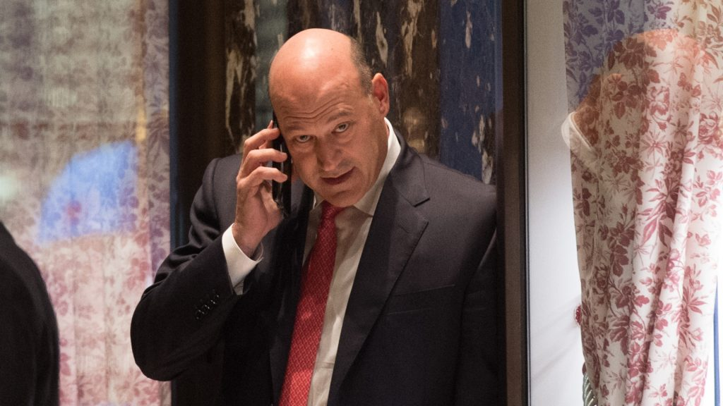 Goldman Sachs president and COO Gary Cohn arrives for a meeting with President-elect Donald Trump at Trump Tower in New York November 29, 2016. / AFP PHOTO / Bryan R. Smith
