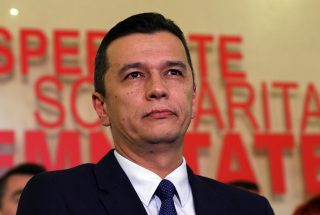 Picture taken on December 28, 2016 shows Romanian social-democrat Sorin Grindeanu during a press conference in Bucharest.