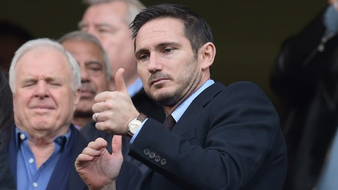 Former Chelsea player Frank Lampard looks gives a thumbs-up during the Premier League match between Chelsea and West Bromwich Albion played at Stamford Bridge, London, England, on December 11, 2016 Photo Joe Toth / Backpage Images / DPPI