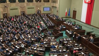 Polish parliament in Warsaw, Poland on 6 October 2016.  (Photo by Mateusz Wlodarczyk/NurPhoto)