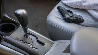 gun on seat in car