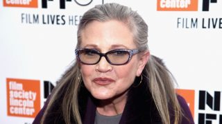 """NEW YORK, NY - OCTOBER 10: Carrie Fisher attends the 54th New York Film Festival - """"Bright Lights"""" Photo Cal on October 10, 2016 in New York City.   Dimitrios Kambouris/Getty Images/AFP"""