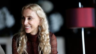 DUBAI, UNITED ARAB EMIRATES - OCTOBER 30:  Franca Sozzani visits the Fashion lounge during the Vogue Fashion Dubai Experience on October 30, 2014 in Dubai, United Arab Emirates.  (Photo by Tristan Fewings/Getty Images for Vogue & The Dubai Mall)