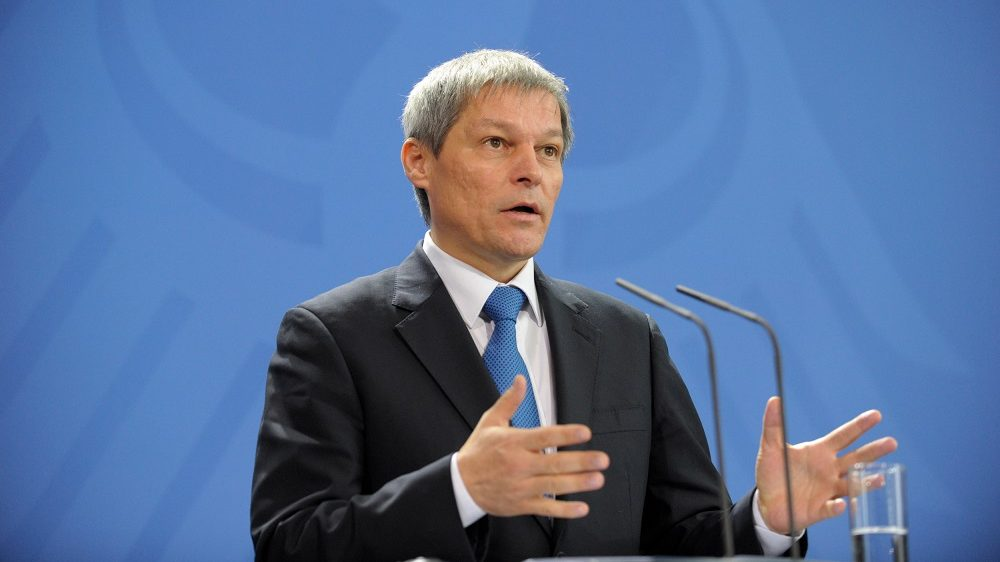 The Premier of Romania Dacian Ciolos gives a statement to the media prior to talks with the German Chancellor at 07.01.2016 at the Chancellery in Berlin, Germany. The two leaders are meeting for conversations about the bilateral relations and european Topics. (Photo by Markus Heine/NurPhoto) (Photo by NurPhoto/NurPhoto via Getty Images)