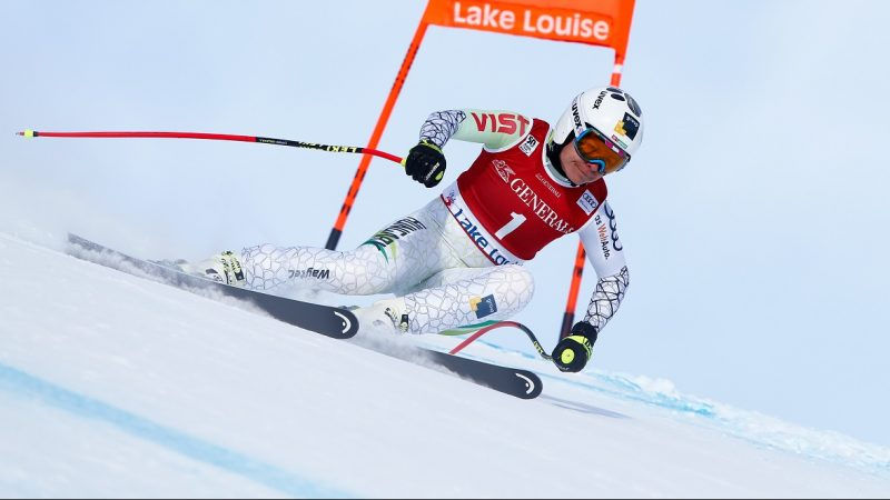 LAKE LOUISE, CANADA - DECEMBER 03: Edit Miklos of Hungary competes during the Audi FIS Alpine Ski World Cup Women's Downhill on December 3, 2016 in Lake Louise, Canada (Photo by Christophe Pallot/Agence Zoom/Getty Images)