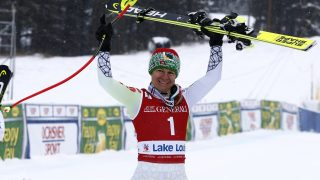 LAKE LOUISE, CANADA - DECEMBER 02: Edit Miklos of Hungary takes 3rd place during the Audi FIS Alpine Ski World Cup Women's Downhill on December 2, 2016 in Lake Louise, Canada (Photo by Christophe Pallot/Agence Zoom/Getty Images)