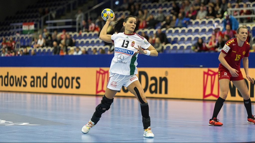 MALMO, SWEDEN - DECEMBER 09: Anita Gorbicz (#13) of Hungary competes during the Women's European Handball Championship Group C match between Montenegro and Hungary on December 9, 2016 in Malmo, Sweden. (Photo by Ole Jensen - Corbis/Corbis via Getty Images )