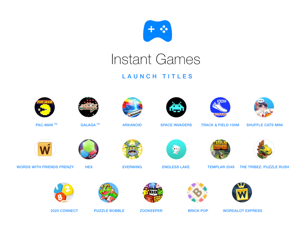 instant games messenger
