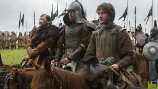 """(L-R) Benedict Wong, Uli Latukefu and Lorenzo Richelmy in a scene from Netflix's """"Marco Polo."""" Photo Credit: Phil Bray for Netflix.EP8"""