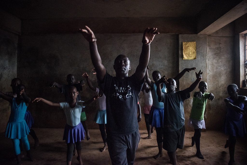 Mike Wamaya is a former proffessional dancer and teacher for the ballet class, The ballet is part of Annos Africa, a charity who also have art classes, traditional dance music and much more in slum areas around Kenya