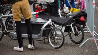 Participants of the 2nd International Cargo Bike Race preparing for the race at Tempelhof airport field in Berlin, Germany, 18 March 2016. PHOTO: GREGOR FISCHER/dpa