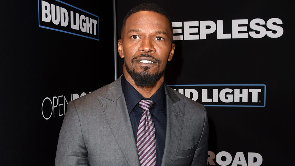 """LOS ANGELES, CA - JANUARY 05: Actor Jamie Foxx arrives at the premiere of Open Road Films' """"Sleepless"""" at the Regal LA Live Stadium 14 Theatre on January 5, 2017 in Los Angeles, California.   Kevin Winter/Getty Images/AFP"""