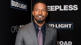 "LOS ANGELES, CA - JANUARY 05: Actor Jamie Foxx arrives at the premiere of Open Road Films' ""Sleepless"" at the Regal LA Live Stadium 14 Theatre on January 5, 2017 in Los Angeles, California.   Kevin Winter/Getty Images/AFP"