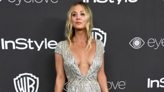 BEVERLY HILLS, CA - JANUARY 08: Actress Kaley Cuoco attends the 18th Annual Post-Golden Globes Party hosted by Warner Bros. Pictures and InStyle at The Beverly Hilton Hotel on January 8, 2017 in Beverly Hills, California.   Frazer Harrison/Getty Images/AFP