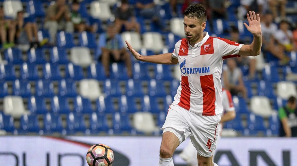 MAPEI STADIUM, REGGIO NELL'EMILIA, ITALY - 2016/08/18: Damien Le Tallec in action during the Uefa Europa League playoff match between US Sassuolo and FK Crvena Zvezda. US Sassuolo wins 3-0 over FK Crvena Zvezda. (Photo by Nicolò Campo/Pacific Press/LightRocket via Getty Images)