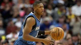 DENVER, CO - DECEMBER 28: Kris Dunn #3 of the Minnesota Timberwolves brings the ball down court against the Denver Nuggets at the Pepsi Center on December 28, 2016 in Denver, Colorado. NOTE TO USER: User expressly acknowledges and agrees that , by downloading and or using this photograph, User is consenting to the terms and conditions of the Getty Images License Agreement.   Matthew Stockman/Getty Images/AFP