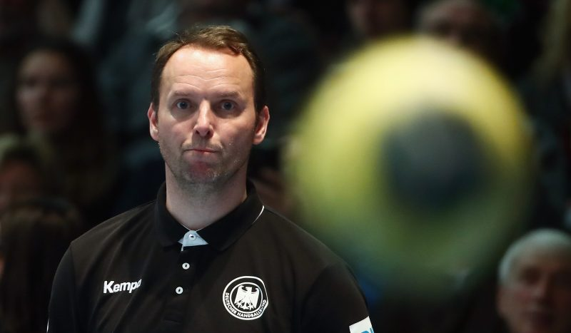 KASSEL, GERMANY - JANUARY 09: Head coach Dagur Sigurdsson of Germany looks on during the international handball friendly match between Germany and Austria at Rothenbach-Halle on January 9, 2017 in Kassel, Germany.  (Photo by Alex Grimm/Bongarts/Getty Images)