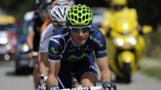 Spain's Jose Ivan Gutierrez leads the breakaway during the 211 km and twelfth stage of the 2011 Tour de France cycling race run between Cugnaux and the 2.500 metres ski resort of Luz-Ardiden, southwestern France, on July 14 , 2011.  AFP PHOTO / LIONEL BONAVENTURE / AFP PHOTO / LIONEL BONAVENTURE