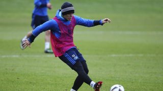 HAMBURG, GERMANY - DECEMBER 14:  Alen Halilovic of Hamburg in action during a training session at Volksparkstadion on December 14, 2016 in Hamburg, Germany.  (Photo by Oliver Hardt/Bongarts/Getty Images)