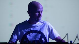 LOS ANGELES, CA - AUGUST 27: DJ Moby performs onstage during FYF Fest 2016 at Los Angeles Sports Arena on August 27, 2016 in Los Angeles, California.   Matt Winkelmeyer/Getty Images for FYF/AFP