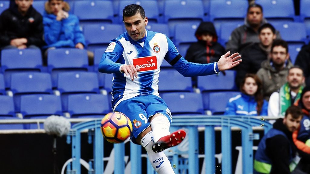 Jose Antonio Reyes during the match between RCD Espanyol and Granada CF, on January 21, 2017 in Barcelona, Spain.  (Photo by Urbanandsport/NurPhoto)