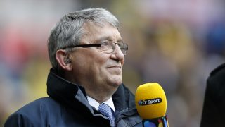 (FILES) This file photo taken on April 24, 2016 shows Former England and Watford manager Graham Taylor attending the FA Cup semi-final football match between Crystal Palace and Watford at Wembley Stadium in London on April 24, 2016. Former England manager Graham Taylor has died of a suspected heart attack at the age of 72, his family announced on January 12, 2017. Taylor made his name as the mastermind behind Watford's rise to the English top-flight in the 1980s and also enjoyed a successful spell as Aston Villa boss before spending three years as England manager. / AFP PHOTO / ADRIAN DENNIS / NOT FOR MARKETING OR ADVERTISING USE / RESTRICTED TO EDITORIAL USE