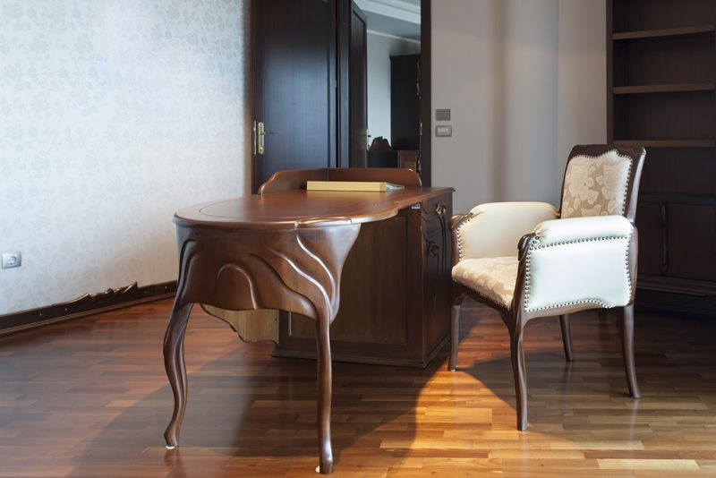 Classic style chair and desk in a room