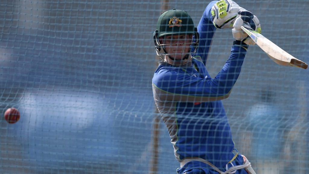 Australia's Test cricket captain Steve Smith plays a shot in the nets during a training session at The Brabourne Cricket Stadium in Mumbai on February 15, 2017.  Australia will play a four match Test series against india with the first Test scheduled to start in Pune from February 23.  ----IMAGE RESTRICTED TO EDITORIAL USE - STRICTLY NO COMMERCIAL USE----- / GETTYOUT / AFP PHOTO / INDRANIL MUKHERJEE /  ----IMAGE RESTRICTED TO EDITORIAL USE - STRICTLY NO COMMERCIAL USE----- / GETTYOUT
