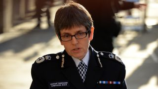 (FILES) This file photo taken on December 19, 2013 shows Police Assistant Commissioner Cressida Dick speaking after the verdict in the Lee Rigby murder trial outside the Old Bailey court in London. A woman will become Britain's most senior police officer for the first time after the government announced on February 22, 2017, that Cressida Dick is to be commissioner of the Metropolitan Police. Dick, 56, will succeed Bernard Hogan-Howe as chief of Scotland Yard, in London, returning to the force after leaving two years ago for the Foreign Office. / AFP PHOTO / LEON NEAL