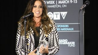 CANADA, Hamilton: Alanis Morisette, who was inducted into the Canadian Music Hall of Fame, spoke to the media in Hamilton, Ontario on March 15, 2015, after the Juno Awards.   - CITIZENSIDE/KRISTA AGUR