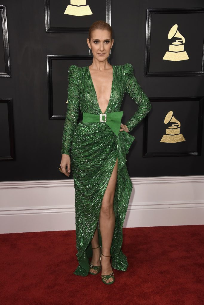 LOS ANGELES, CA - FEBRUARY 12: Singer Celine Dion attends The 59th GRAMMY Awards at STAPLES Center on February 12, 2017 in Los Angeles, California.   Frazer Harrison/Getty Images/AFP