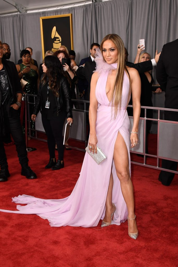 LOS ANGELES, CA - FEBRUARY 12: Singer/Actress Jennifer Lopez attends The 59th GRAMMY Awards at STAPLES Center on February 12, 2017 in Los Angeles, California.   Frazer Harrison/Getty Images/AFP