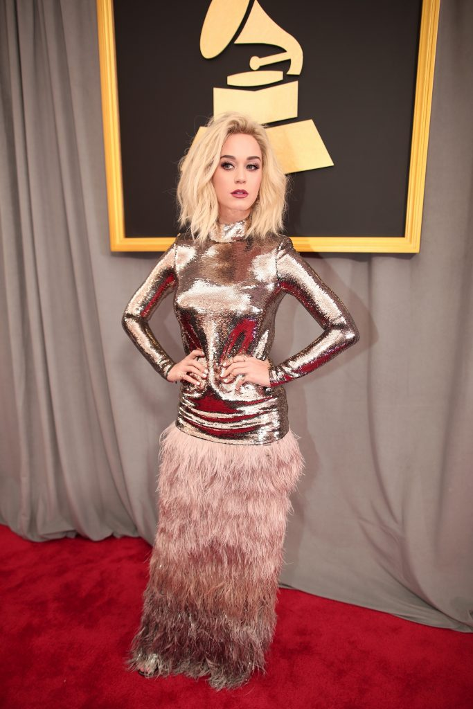 LOS ANGELES, CA - FEBRUARY 12: Singer Katy Perry attends The 59th GRAMMY Awards at STAPLES Center on February 12, 2017 in Los Angeles, California.   Christopher Polk/Getty Images for NARAS/AFP