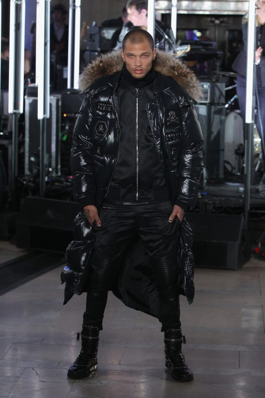 NEW YORK, NY - FEBRUARY 13: Model Jeremy Meeks walks the runway wearing look #1 for the Philipp Plein Fall/Winter 2017/2018 Women's And Men's Fashion Show at The New York Public Library on February 13, 2017 in New York City.   Thomas Concordia/Getty Images for Philipp Plein/AFP