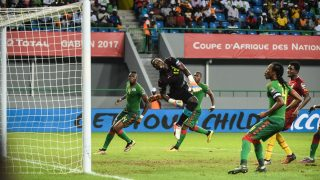 Goal by Sibiri Alain Traore past Richard Ofori        during the 2017 Africa Cup of Nations 3rd  place match in Port Gentile, Gabon on 4/2/2017 (Photo by Ulrik Pedersen/NurPhoto)