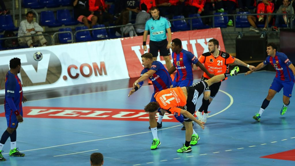 Gabor Csaszar during the match between FC Barcelona and Kadetten, corresponding to the week 4 of the handball Velux EHF Champions League, played at the Palau Blaugrana, on october 12, 2016. Photo: Urbanandsport/Nurphoto -- (Photo by Urbanandsport/NurPhoto)