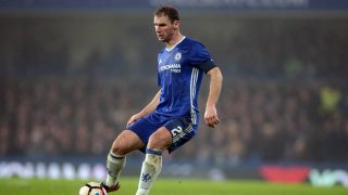 Chelsea's Branislav Ivanovic during The Emirates F A Cup  - Third Round match between Chelsea against Peterborough United at Stamford Bridge, London, Britain - 08 Jan  2017 (Photo by Kieran Galvin/NurPhoto)