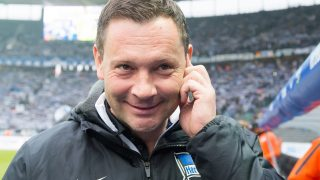 Hertha's coach Pal Dardai during the German Bundesliga soccer match betweenHertha BSC and FC Ingolstadt 04 in the Olympia Stadium in Berlin, Germany, 04 February 2017.   (EMBARGO CONDITIONS - ATTENTION: Due to the accreditation guidelines, the DFL only permits the publication and utilisation of up to 15 pictures per match on the internet and in online media during the match.) Photo: Annegret Hilse/dpa