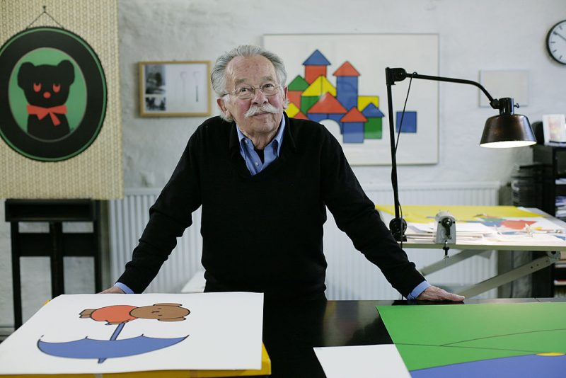 Dick Bruna, author of the Miffy books, artist, illustrator and graphic designer, in his studio, Utrecht, The Netherlands, 2nd October 2010. (Photo by Martin Godwin/Getty Images)