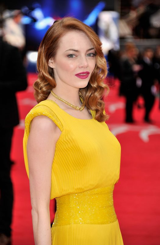 LONDON, ENGLAND - APRIL 10:  Actress Emma Stone  attends 'The Amazing Spider-Man 2' world premiere at the Odeon Leicester Square on April 10, 2014 in London, England.  (Photo by Gareth Cattermole/Getty Images for Sony)