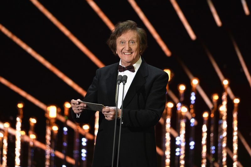 LONDON, ENGLAND - JANUARY 25:  Ken Dodd on stage during the National Television Awards at The O2 Arena on January 25, 2017 in London, England.  (Photo by Jeff Spicer/Getty Images)