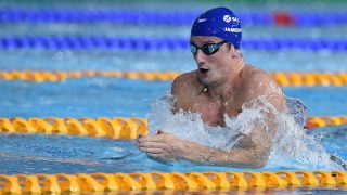 Scotland's Michael Jamieson swims to silver in the Men's 200m Breaststroke final at the Tollcross International Swimming Centre during the 2014 Commonwealth Games in Glasgow on July 24, 2014.  AFP PHOTO / ANDREJ ISAKOVIC / AFP PHOTO / ANDREJ ISAKOVIC