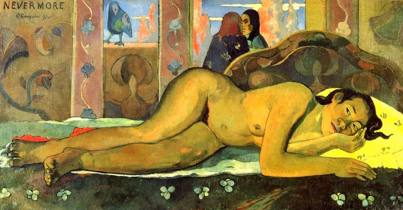 paul-gauguin-nevermore-1897