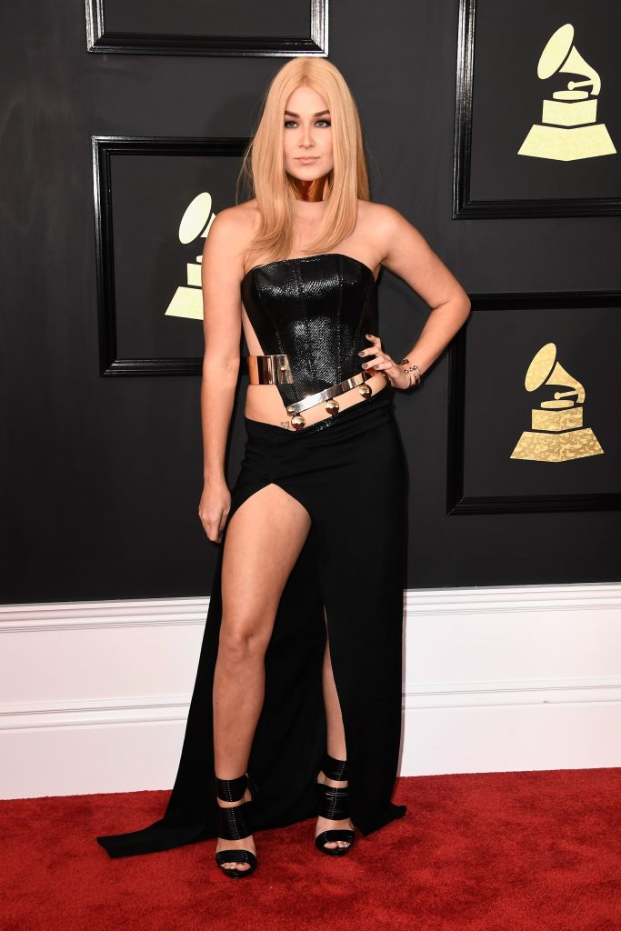 LOS ANGELES, CA - FEBRUARY 12: Singer Saint Heart attends The 59th GRAMMY Awards at STAPLES Center on February 12, 2017 in Los Angeles, California.   Frazer Harrison/Getty Images/AFP