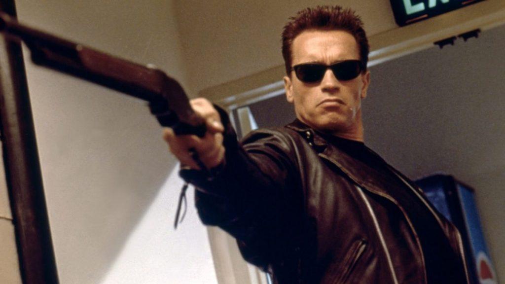 Arnold Schwarzenegger / Terminator 2 : Judgment Day / 1991 directed by James Cameron (Carolco Pïctures)