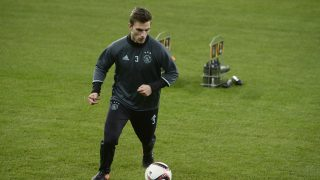 Ajax's Joel Veltman pictured during a training session of Dutch soccer team Ajax Amsterdam in Liege, Wednesday 07 December 2016. Tomorrow Ajax is playing the sixth and last game of the group stage (group G) of the Europa League competition against Belgian club Standard de Liege. BELGA PHOTO NICOLAS LAMBERT