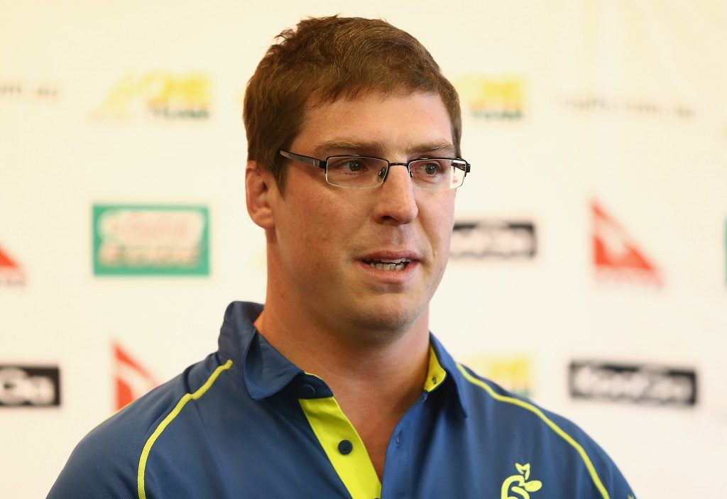 SYDNEY, AUSTRALIA - AUGUST 28:  Dan Vickerman speaks to the media during an Australian Wallabies press conference to announce his retirement at ARU HQ on August 28, 2012 in Sydney, Australia.  (Photo by Mark Kolbe/Getty Images)